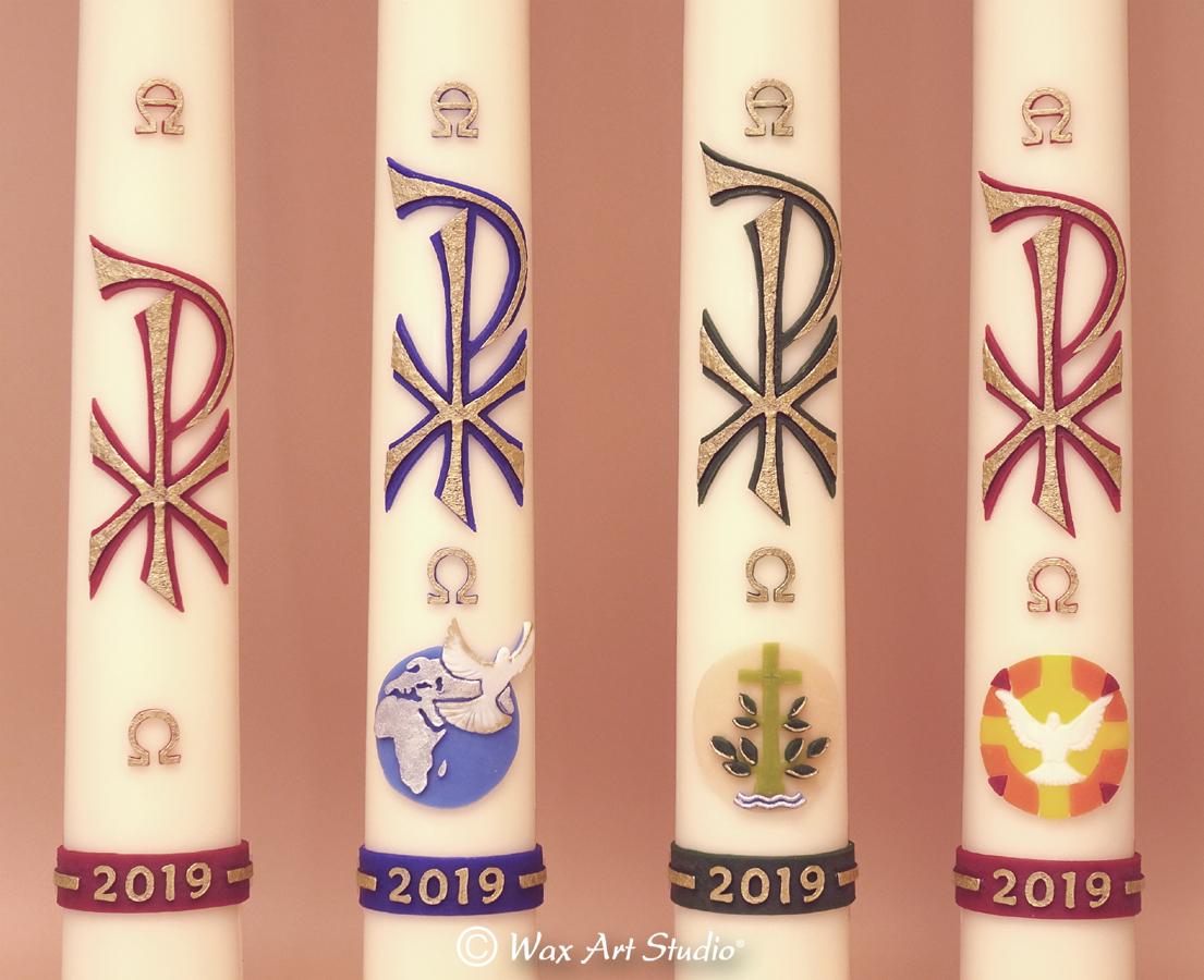 Paschal candles 2019 Lockets