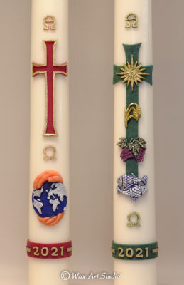 Paschal candles 2021 A and B